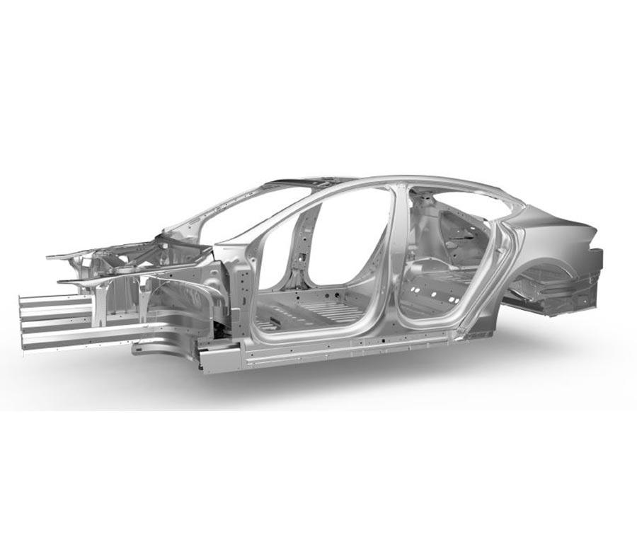 Illustrasjon av aluminiumskarroseri